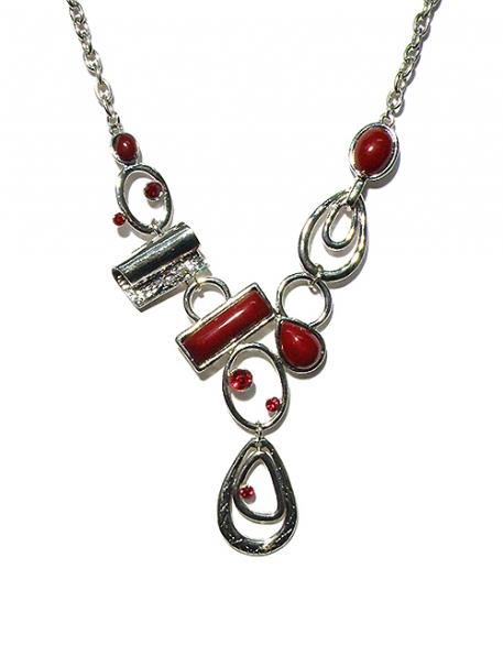 Halskette kurz rot