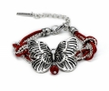 Armband mit Schmetterling in rot